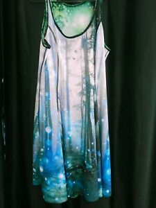 Black Milk Limited Edition Reversable Orb Forest/Galaxy Dress