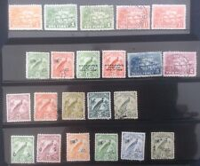 Australia New Guinea 1925 - 1939 Super Collection On  2 Pages. Blocks,  Sheet.
