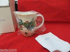 L 2233 Princess House Winter Garden Porcelain Creamer Christmas NIB Retired