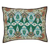 "Capri Quilted Standard Sham Multi-color Bohemian Floral 21""x 27"" 100% Cotton VHC"