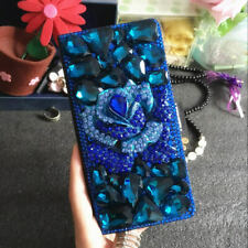 Handmade Bling Diamonds Wallet Stand Case Leather Cover For Samsung Galaxy