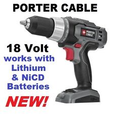 """NEW Porter-Cable PC1801D 18V 18 Volt 1/2"""" Drill Driver NiCD & Li-Ion (Tool Only)"""