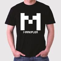 New Markiplier Famous Vlogger Logo Men's Black T-Shirt Size S to 3XL