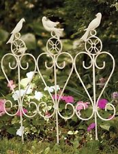 Song Bird Trio Metal Garden Rail Yard Stake Plant Patio Iron Fence Cottage Chic