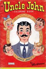 Uncle John coloring book RARE UNUSED