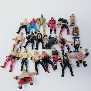 Lot Of 22 WWF WWE Jakks Mini Figures Attitude Era All Dif. Wrestling Vintage