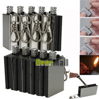 5X Survival Camping Emergency Fire Starter Permanent Metal Match Striker Lighter