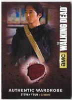 Walking Dead Season 4 Costume Relic Wardrobe Card Steven Yeun Glenn M44