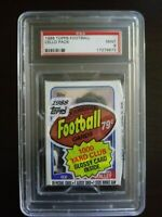 1988 Topps Football Cello Pack Darryl Talley On Top PSA 9