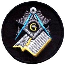 "3.5/"" Quality Knights Templar Seal Masonic Iron or Saw On Patch Freemason Biker"
