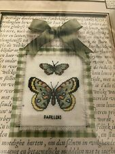 Leisure Arts Nature Collection Butterfly Duo Counted Cross stitch Kit 8x10 Frame