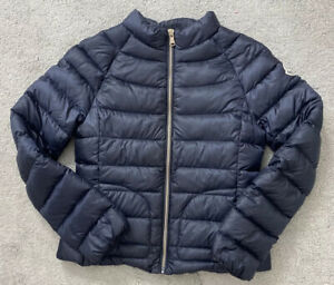 Authentic Kids Moncler Navy Blue Lightweight Down Jacket Size 12 Years