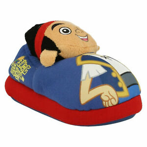 JAKE AND THE NEVERLAND PIRATES BOYS DISNEY 3D NOVELTY WINTER INDOOR SLIPPERS