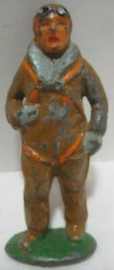 Old Lead Aviator Soldier Parachutist for Toy Airplane
