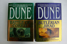 DUNE : Battle of Corrin / The Butlerian Jihad  LOT of 2 HC/DJ - Both 1ST EDITION
