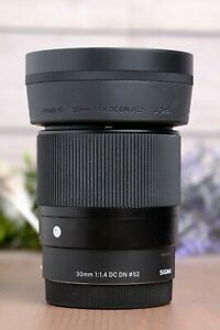 Sigma 30mm f/1.4 DC DN Contemporary Lens for Sony E-Mount - w/Caps and Hood