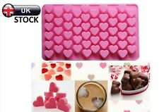 55 Pink Mini Hearts Silicone Mould Ice Jelly Mold Chocolate Wax Candle Melts