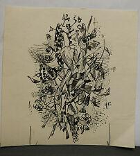 Dessin Original Encre Claude Schürr (1921-2014) Le Musicien 1960  SHU20
