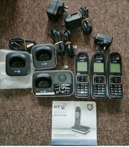 BT Triple Digital Cordless Phones With Call Blocker  Answering Machine Trio 7610