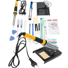 18pcs Electric Cellphone Soldering Iron Station Kit w/ Desoldering Pump 230V 60W