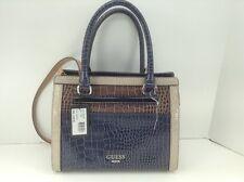 Women's GUESS Large Blue Taupe EMANUELA Handbag - $108 MSRP - 10% off