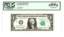 US 2006 F $1 Dollar PCGS Gem New 65/66 PPQ - Boca Raton Run - RARE Low #
