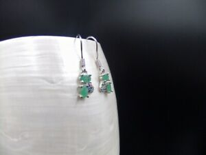 Natural Emerald, Amethyst, Citrine, Ruby, Turquoise, Sterling Silver, Earrings