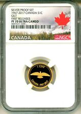 2017 Canada S1c 1967-2017 Silver Proof Set Gilt Rock Dove FR NGC PF70 UC