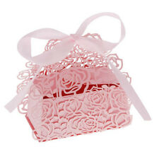 12Pcs Romantic Rose DIY Candy Cookie Gift Favor Box for Wedding Party G7D8 X1Y0
