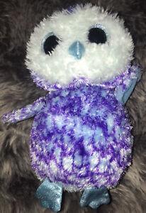 I # Doudou peluche chouette hibou Own oiseau Oscar Violet Purple TY TBE 30 cm