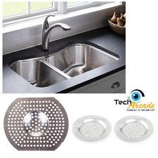 3 x Sink Strainer Bath Basin Plughole Filter Kitchen Metal Strainers