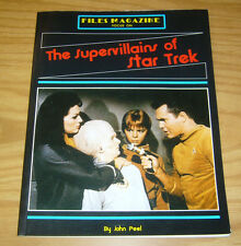 Files Magazine Focus On the Supervillains of Star Trek VF/NM john peel 1988 rare