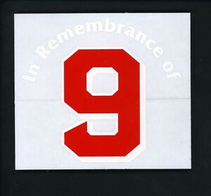Ted Williams PERSONAL COLLECTION In Remembrance of number 9 Vinyl Cling Sticker