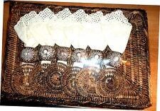 SET DE TABLE BOIS EXOTIQUE TRESSE 24 Pièces (6 Pers) (NEUF SCELLE) Ile REUNION
