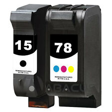 2pk Remanufactured Ink Jet Cartridges for HP 15/78 PSC 750 xi 950 950xi Printer