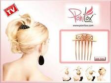 NEW AS SEEN ON TV PONILOX GOLD TWIST PIVOTING HAIR COMB FOR FABULOUS UPDOS