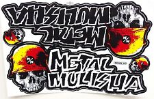 Grand autocollant sticker MX Motocross Metal Mulisha jaune rouge 265 x 170 mm #m22