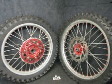 "Honda CR250 2002-2007 CRF450 2002-2012 SM PRO red/silver 19"" + 21"" wheels CR4643"
