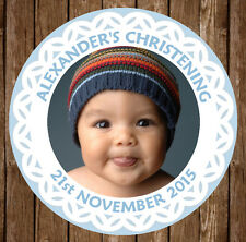 12x Personalised Christening Baptism Communion 60mm Round Stickers Gift Bag Seal