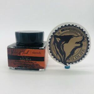 Fountain Pen Ink For Sketching India Black 30 Ml Free Sticker