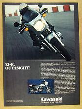 1978 Kawasaki Z1R Z1-R Motorcycle color photo vintage print Ad