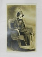 Vintage Photo Post Card From Atlantic City Lady in Wicker Carriage Palace Studio