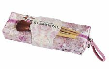 Quintessential Elemental Pink Pastel Cosmetic Purse with 3 Make Up Brushes