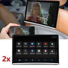 Pair 12.5 inch HD Android 8.1 Car Back Seat Headrest Monitor HDMI Wifi Blueteeth
