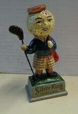 More details for silver king golf ball figure cast iron reproduction 1920s advertising golfer vo
