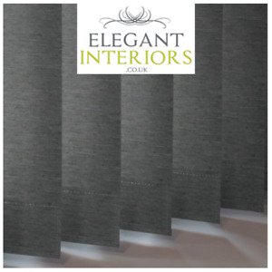 Linenweave Charcoal Grey Dimout - Made To Measure Complete Vertical Blind