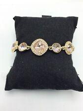 Pave Bracelet #44 Gb $78 Givenchy Gold Tone Crystal