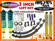 "3"" ARCHM4X4 & DOBINSONS XTREME F&R SUSPENSION LIFT KIT FOR TOYOTA HILUX 2005-ON"