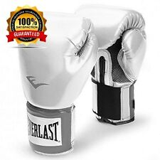 Everlast Pro Style PU Pro Borsa Guantoni Da Boxe BLANCO Bianco Dimensioni: 10oz