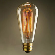 40W E27 Filament Light Bulb Vintage Decor Industrial Style Lamp Eddison 220V